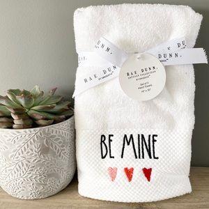 NWT Rae Dunn White Be Mine Hand Towels Set of 2